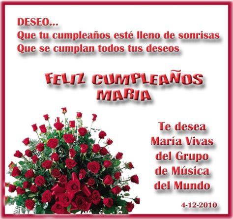 imagenes cumpleaños maria imagen feliz cumplea 209 os maria grupos emagister com