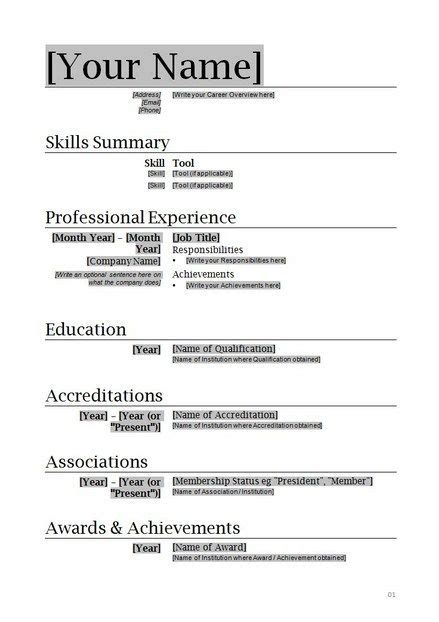 free basic resume templates microsoft word 17 best images about simple resume template on