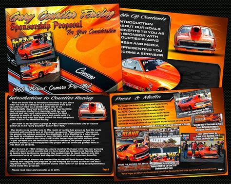 free racing sponsorship template race car sponsorship template