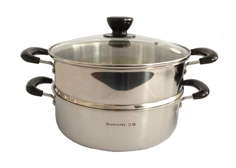 asia convertible 24cm stainless steel steam pot vegetable dim sum steamer ebay