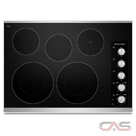 Kitchenaid Cooktop Knobs by Kitchen Aid Kecc605bss Electric Cooktop 30 In With Five