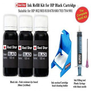 Sun Refill Kit Cartridge Hp 680 ink refill kit for hp black cartridge