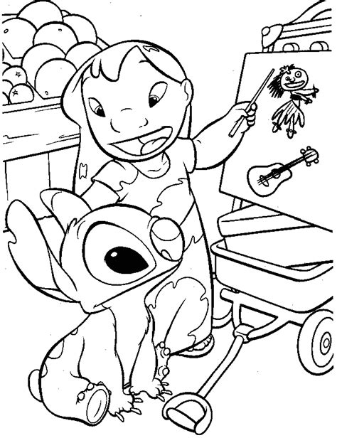 lilo and stitch sparky coloring pages lilo and stitch coloring book coloring home