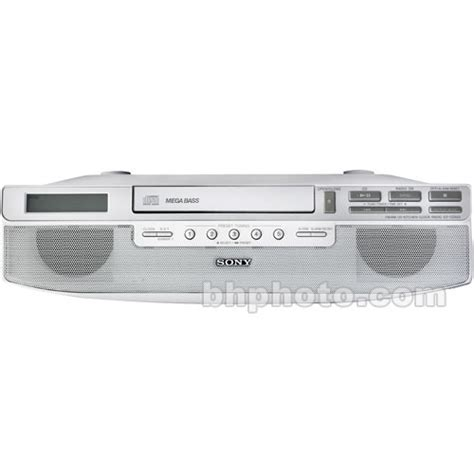 kitchen stereo under cabinet sony icf cd523 under cabinet kitchen cd clock radio