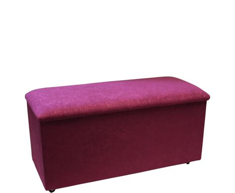 Just Ottomans Hyde Park Luxury Small Berry Ottoman Special Offer