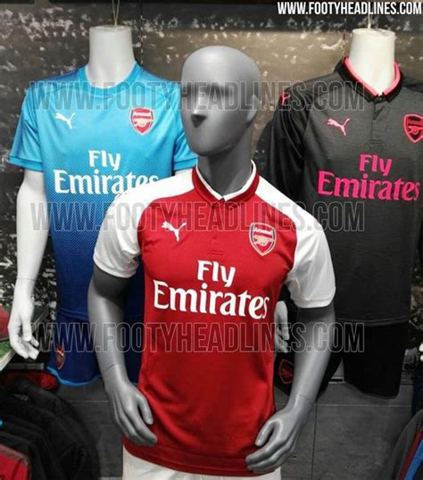 arsenal new kit premier league 2017 18 kits and leaked strips what your