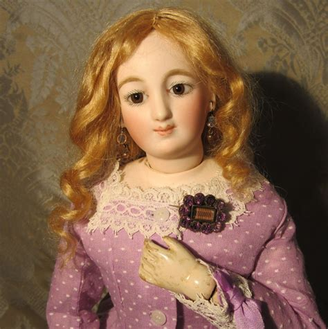 mourning dolls miniature amethyst mourning brooch for antique doll from