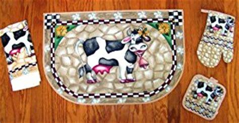 cow kitchen rug cow slicc rug kitchen pot holder towel set area rugs