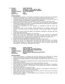 Crane Operator Sle Resume by Wilfredo Guila Resume Crane Operator