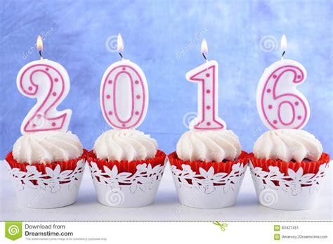 happy new year cupcakes happy new year 2016 cupcakes stock image image 63427451
