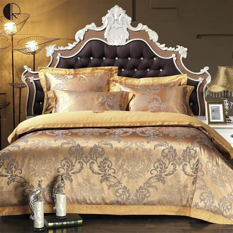 Jacquard Bed Set King Size Bed 4pcs Silk Cotton Jacquard Lace Bed Sheet Set Quilt Duvet Comforter Cover