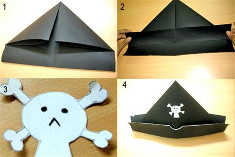 How To Make A Pirate Hat From Paper - robinage arts and crafts pirate hat