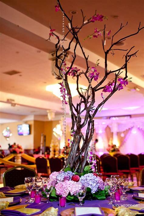 manzanita tree centerpieces manzanita tree centerpiece colorful bling wedding