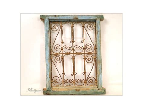 wood and wrought iron window grille morocco wrought iron and painted wood