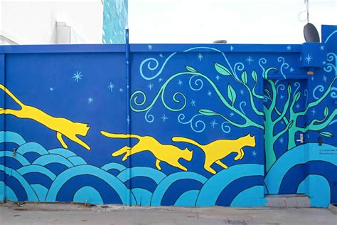 cat wall murals perth cat hospital opened with beautiful cat mural on