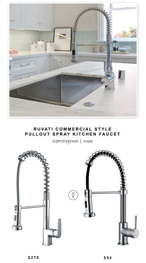 kitchen faucet commercial style copy cat chic ruvati commercial style pullout spray