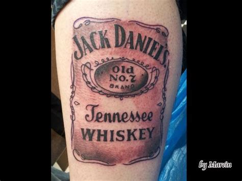 leg jack daniels tattoo by baltic tattoo