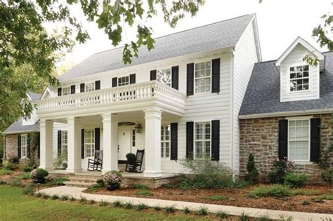 white colonial house colonial house with columns remodel google search