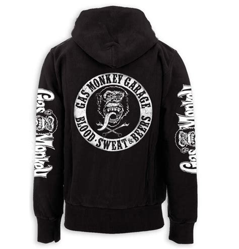 official gmg gas monkey garage hoody black white blood sweat beers all sizes ebay
