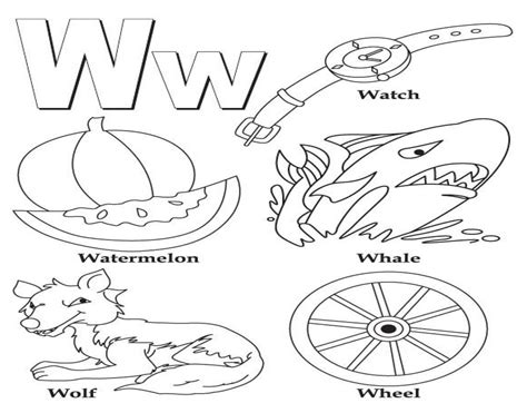 W Is For Worm Coloring Page by New 10 Printable Coloring Pages For Preschoolers Of The