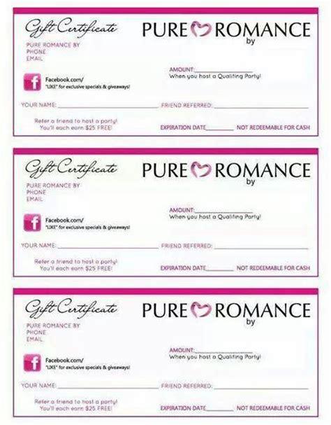 pure romance gift certificates pure romance pinterest