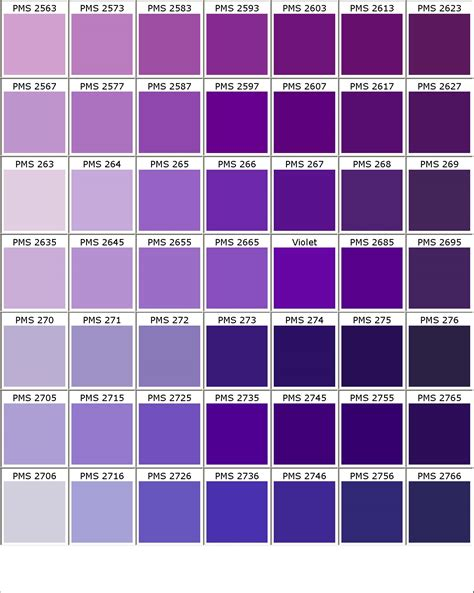 purple color shades color chart check pms194 pms272 pms2727 pms2718 pms505
