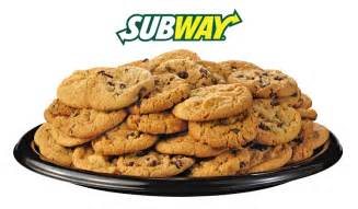 15 freshly baked cookies from subway
