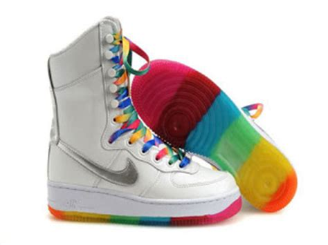 colorful air ones nike rainbow air one high tops shoes 6 inch boots