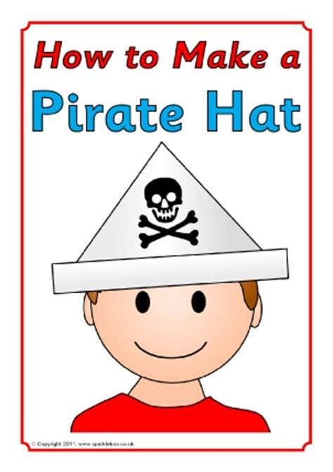 How To Make A Pirate Hat Out Of Paper - writing resources and printables ks1 sparklebox
