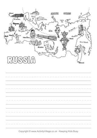 printable handwriting paper activity village printable russia story paper for kids