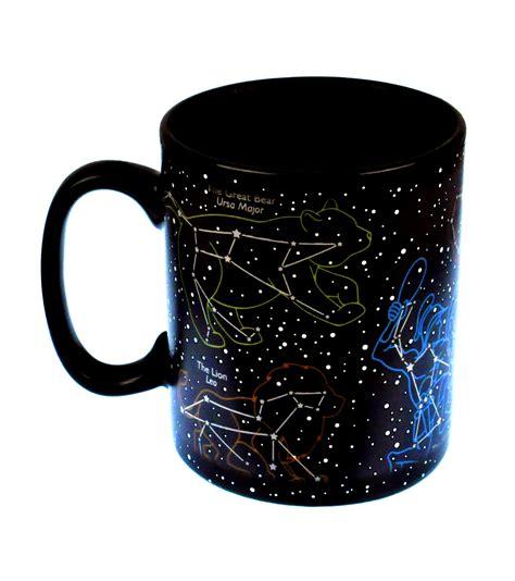 Cool Coffe Mugs the star mug stars at night sky heat change mug pink