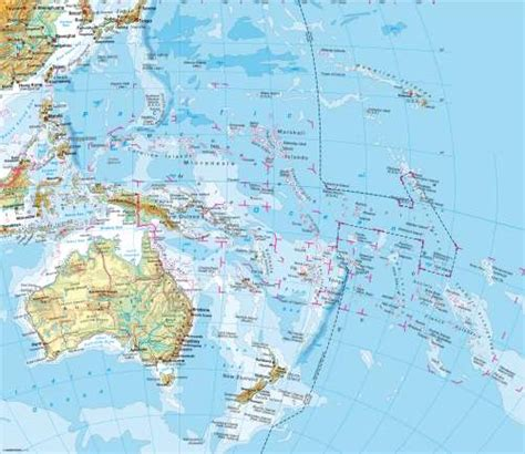 physical map of oceania physical map of australia and oceania www pixshark