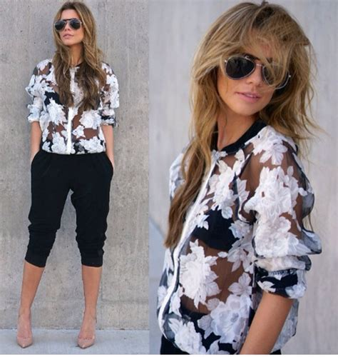Foo Jkt Bomber Flower 25 ways to wear floral styles weekly