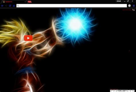 dragon ball z themes for google chrome goku kame hame ha chrome theme themebeta