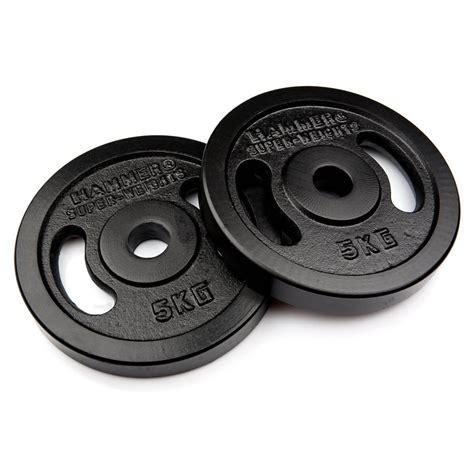 Barbell 5 Kg buy hammer barbell plates 2x 5 kg black