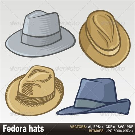 fedora hats by fractalgr graphicriver