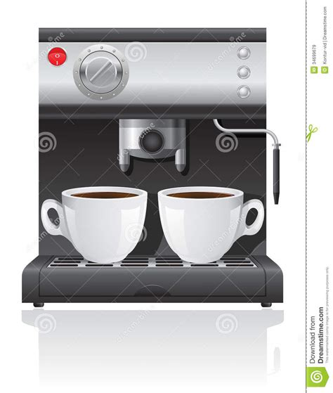 Coffee Maker Vector Illustration Stock Vector   Image: 34699679