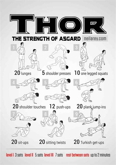 thor bodyweight workout routine pop workouts