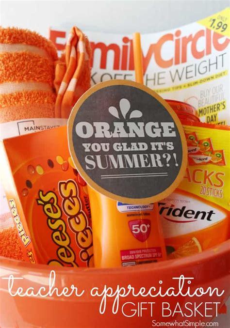 orange  glad gift basket teacher gift skip   lou