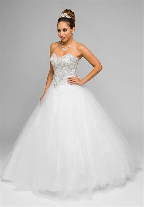 beaded bodice white beaded bodice strapless gown wedding dress with