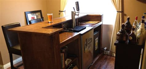 Home Bar Tap Justin S Kegerator Bar American Homebrewers Association