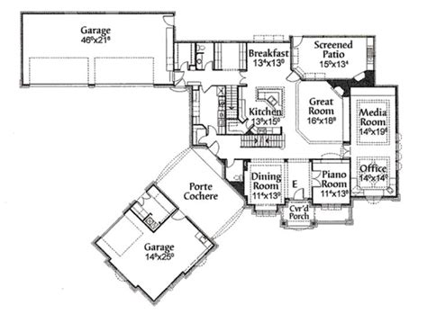 porte cochere house plans luxury home plans motors and garage on pinterest