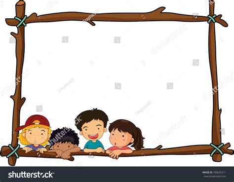 Border Clipart 1193488 Illustration By by Illustration Of Wooden Stick Border With Eps Vector