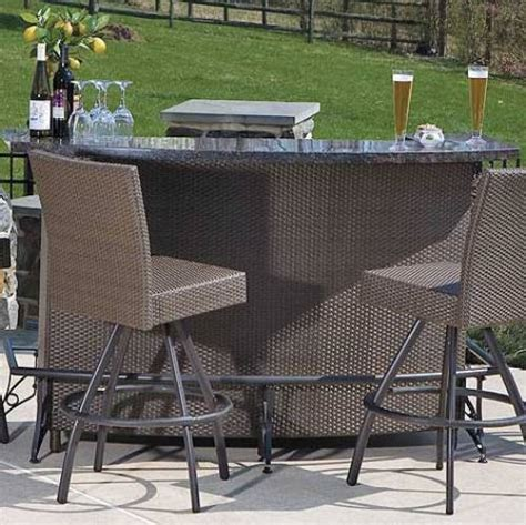 Patio Furniture Bar Sets Outdoor Bar Set The Interior Design Inspiration Board