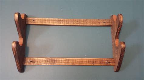 pattern for wall mounted gun rack 2 gun wood gun rack wall mount dark walnut ebay