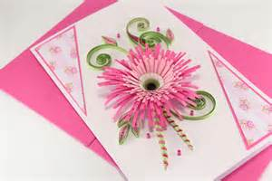 birthday card for beautiful handmade quilling