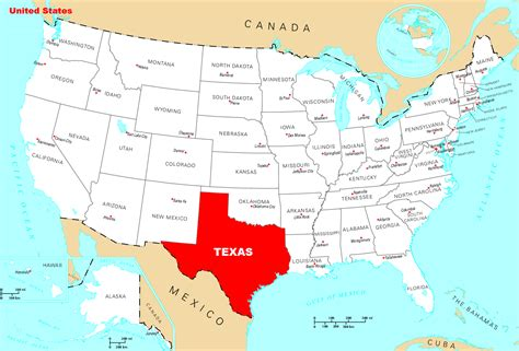 where is texas located on the map where is texas located mapsof net