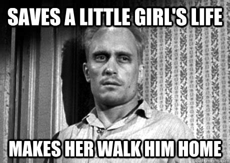 To Kill A Mockingbird Cat Meme - saves a little girl s life makes her walk him home boo