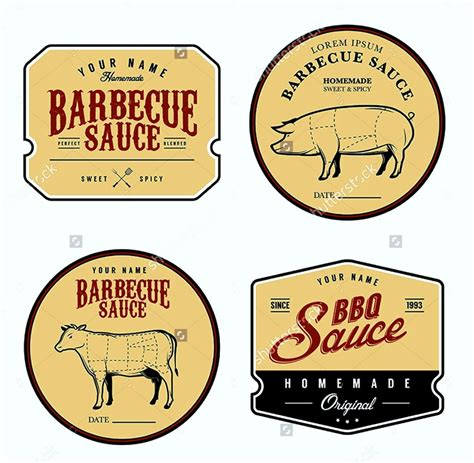 free bbq sauce label template template update234 com