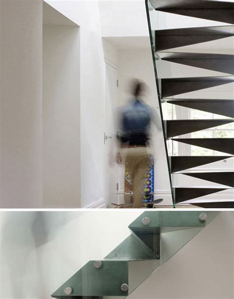 steel origami suspended staircases 18 hanging stair tread sets urbanist